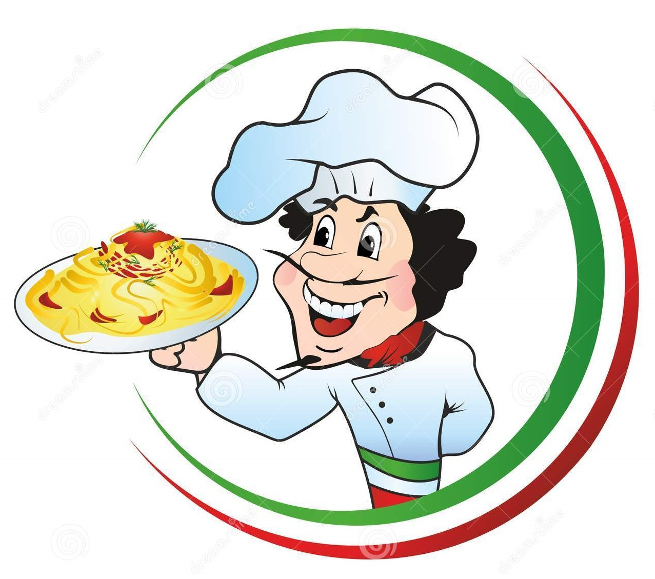 chef-plate-spaghetti-italian-holding-36164383
